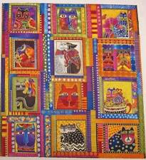 Fabulous Felines  CAT PANEL  All Colors 12 Squares  Laurel Burch Quilt Fabric