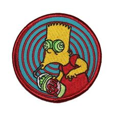 The Simpsons Bart With Squishee Embroidered Iron On Applique Patch SIM59