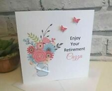 Personalised Retirement Card, Female, Any Name, Free UK Postage, Mum, Colleague