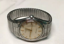 1950's vintage LONGINES SILVERGINES Stainless Mens Wristwatch w/ Original Band
