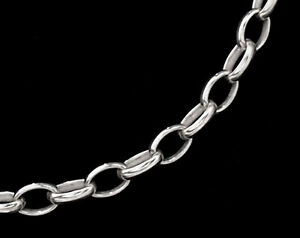 925 Sterling Silver Oval  Rolo Link Chain 2.6x3.8 mm. 18 inches