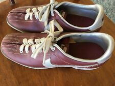 Vtg 1980s Nike Women's Sz 8 1/2 Bowling Shoes - Double Split Toe - 830810SN 8.5