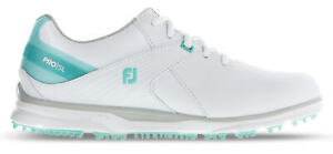 FootJoy Women's Pro SL Golf Shoes 98117 White/Aqua Ladies New