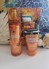bath and body works sweet cinnamon pumpkin body cream fine fragrance mist