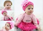 "22"" Silicone Doll Realistic Newborn Reborn Baby Lifelike Bambole Surprise Gift"
