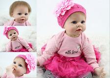 "22"" Silicone Doll Realistic Handmade Newborn Reborn Baby Lifelike  Bambole Gifts"