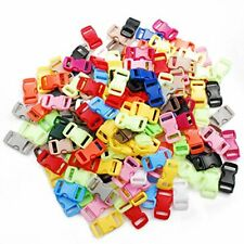 """200pack Assorted 3/8""""Curve Contoured Side Release Buckle for Parachute 550 Co#75"""