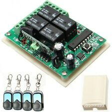 4pcs HCS301 433MHz Rolling Code Remote Control & 12V Wireless Relay Receiver 10A