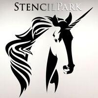 Unicorn Horse Art Craft Reusable Stencil Decor Size A 5 4 3 / BIG SIZES #08