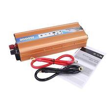 Car Power Inverter DC 12V to AC 220V Modified Sine Wave Converter with USB 2000W