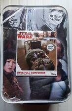 NWT Disney The Last Jedi Twin/Full  Comforter With Sham 72 x 86