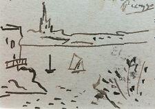 Pablo Picasso Original Zeichnung Handsigniert signed Drawing Handsigned COA