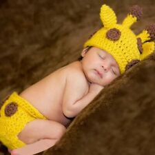 Newborn Baby Photography Photo Props Crochet Knit Costume Hat Clothes Outfits
