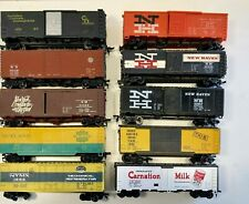 HO 10 different box and refrigerator cars used no box built RTR