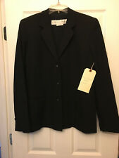 GARFIELD & MARKS Patterned Suit Coat Jacket - Black - Size 8