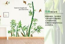 Bamboo Woods Birds Plant Home Room Removable Wall Sticker Decal Decorations