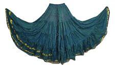 Boho Gypsy Hippie Maxi Skirt Recycled Silk Sari 12 Yard Bollywood Belly Dance A