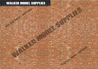 1/24 scale (3xA4) Garage wall - Peel and Apply decal sticker/diorama/model car 1