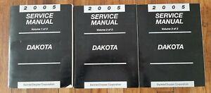 2005 DODGE DAKOTA TRUCK 2WD 4WD Service Repair Shop Manual Set OEM 05 DEALERSHIP