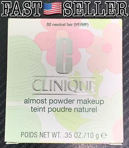 Clinique Almost Powder MakeUp No. 02 Neutral Fair, 10g/.35oz - JAPAN MADE! NEW!