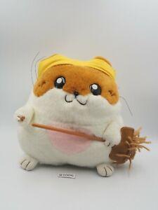 "Hamster Paradise B1006 Broom Plush 6"" Stuffed Toy Doll Japan"