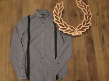 FRED PERRY LONG SLEEVE GINGHAM CHECK SHIRT  MOD SCOOTER XS SMALL L@@k