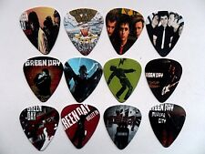 RARE Lot de douze Green Day Guitar .7 MM Plectrum // Picks recto verso