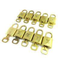 LOUIS VUITTON Padlock & Key Bag Accessories Charm 10 Piece Set Gold AK40964l