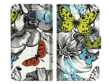 Garden Butterfly Wallet Case Cover For Samsung Galaxy S5 - A018