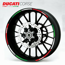 Ducati Corse Motorrad Felgen Rand aufkleber set rim stickers panigale 1199 1098