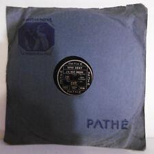 78T SAPHIR 29 cm Disque ALIBERT Empire Phono J'AI DEUX AMOURS Chanté PATHE 3897