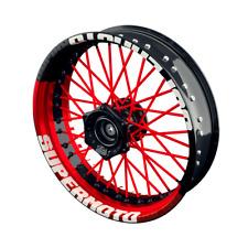 Supermoto Felgenaufkleber Felgenrandaufkleber Motorrad für Felgen Set Design 1