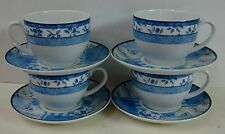 Wedgwood INDIGO Cups and Saucers Set 4 CUPS 4 SAUCERS Best Condition