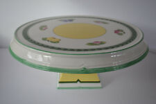 VILLEROY AND BOCH FRENCH GARDEN PEDESTAL CAKE STAND