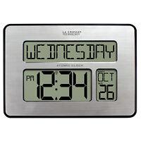 "513-1419 La Crosse Technology Large 2"" Numbers Atomic Digital Wall Clock IN Temp"