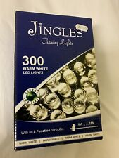 Jingles 300 LED white chasing lights with 8 function controller indoor/outdoor