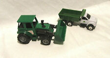 John Deere Plastic Dump Truck and Front Loader By Ertl  1/64th Scale
