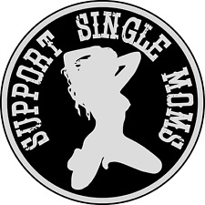 2 Inch Support Single Moms Hard Hat Sticker Funny Welding Helmet Decal Stripper