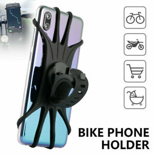 Cell Phone Silicone Mount Holder GPS Motorcycle MTB Bike Bicycle 360° Rotation