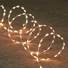 66er LED Drahtlichterkette 6 Std Timer Lichterkette Draht Innen silberf. 231003