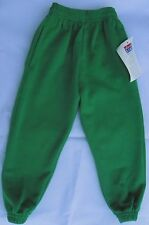 Plain Emerald Jogging Bottoms Joggers Children Boys Girls Sizes David Luke