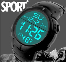 Montre Sport Homme Multifonction Chronomètre Alarme Rétro Eclairage Imposante