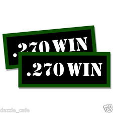 "270 WIN Ammo Can 2x Labels Ammunition Case 3""x1.15"" stickers decals 2 pack"