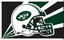 New York Jets House Flag 3'x 5'   2  Grommets 2 Sided