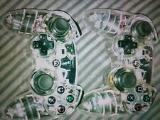 2 x UNTESTED Ps3 Afterglow Clear Wireless controllers