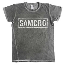 Licencia oficial SOA SAMCRO con aspecto envejecido urbano Calce ajustado Para hombres Camiseta (S-XXL)