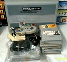 Super Famicom System Console (SNES Japan) & case  w/ 11 Games