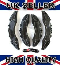 UNIVERSAL BRAKE CALIPER COVERS SET KIT FRONT & REAR BLACK ABS 4PCS - S-LINE