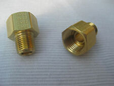 NORS CHEVY 1955 - 1974 POWERGLIDE TRANSMISSION COOLING LINE BRASS FITTING Set/2