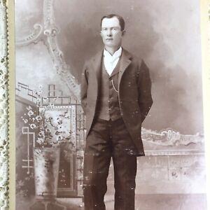 Antique Cabinet Card Photo Handsome Young Man Victorian Gentleman Medford Oregon